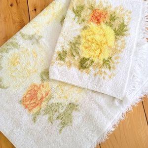 Vintage Fieldcrest Hand Towel & Washcloth